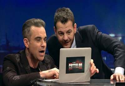Alessandro Cattelan e Robbie Williams