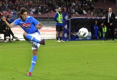Edinson Cavani, capocannoniere dell'Europa League (Infophoto)