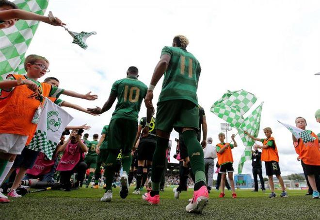 Celtic, l'ingresso nello stadio (LaPresse)