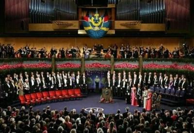 La cerimonia per il Premio Nobel (Infophoto)