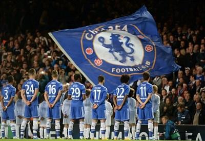 Il Chelsea in campo nella gara di andata (Infophoto)