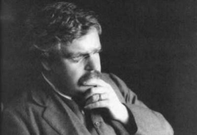 Gilbert Keith Chesterton (1874-1936) (Immagine d'archivio)