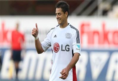 Javier Hernandez, nuovo acquisto del Bayer (dall'account ufficiale facebook.com/bayer04fussball)