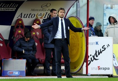 Antonio Conte, terza stagione sulla panchina della Juventus (Infophoto)