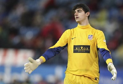 Thibaut Courtois, 21 anni, portiere dell'Atletico Madrid (Infophoto)