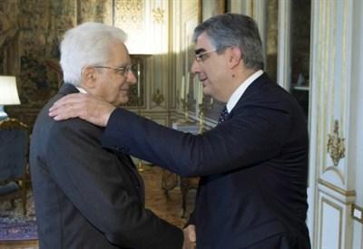 Luciano D'Alfonso e Sergio Mattarella (LaPresse)