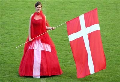 La bandiera Danese (Infophoto)