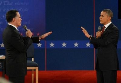 Romney e Obama (Foto: Infophoto)