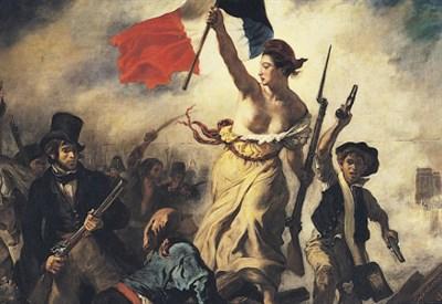 Particolare del quadro di Delacroix