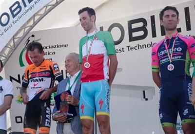 Nibali e Ulissi sul podio dei Campionati Italiani