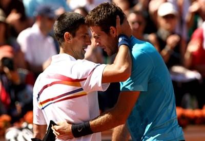 Novak Djokovic, 26 anni, e Juan Martin Del Potro, 25 (Infophoto)