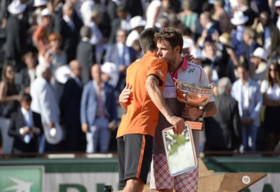 Novak Djokovic, 28 anni, e Stan Wawrinka, 30 (da facebook.com/RolandGarros)