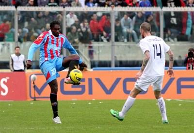 Giulio Ebagua, rientrato a Varese dopo un anno (Infophoto)