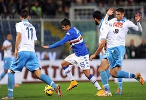 Video/ Napoli-Sampdoria (4-2): l'autogol di Albiol e i gol di Gabbiadini, Higuain -doppietta-, Insigne e Muriel (26 aprile 2015, Serie A 32^giornata)