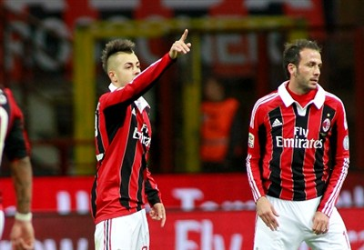 Stephan El Shaarawy e Giampaolo Pazzini, in gol contro il Torino (Infophoto)