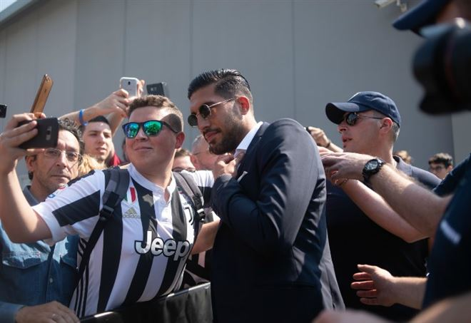 Emre Can nel giorno dell'arrivo alla Juventus (Foto LaPresse)