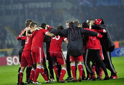 L'esultanza del Bayern Monaco (Foto: Infophoto)