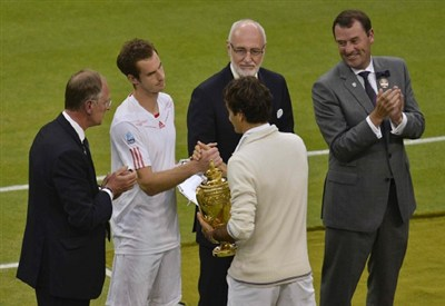 Roger Federer, 32 anni, e Andy Murray, 27 (Infophoto)