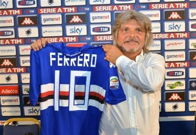 Massimo Ferrero, presidente Sampdoria (Infophoto)