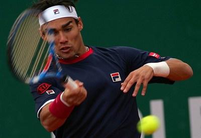 Fabio Fognini: oggi la semifinale contro Djokovic (Infophoto)