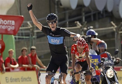 Chris Froome alla Vuelta (Infophoto)
