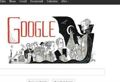 Il Doodle di Google dedicato a Bram Stoker