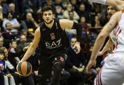 Alessandro Gentile, capitano dell'Olimpia Milano (Infophoto)