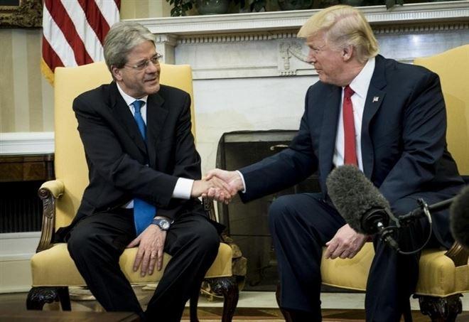 Paolo Gentiloni e Donald Trump (Lapresse)