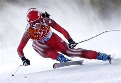 Dominique Gisin, 28 anni, oro olimpico nella discesa libera