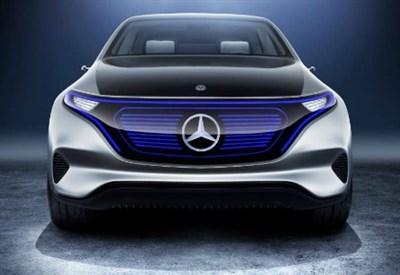 Il frontale della Generation EQ, la concept elettrica di Mercedes
