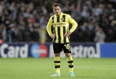 Mario Gotze, uno dei giovani talenti del Borussia Dortmund (Infophoto)