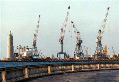 Gru nel porto di Livorno