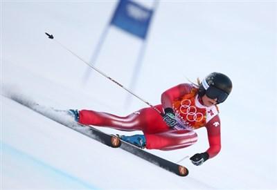 Lara Gut nel corso del supergigante di Sochi (Infophoto)