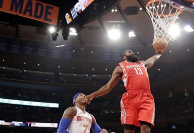 James Harden, 25 anni, guardia degli Houston Rockets (Infophoto)