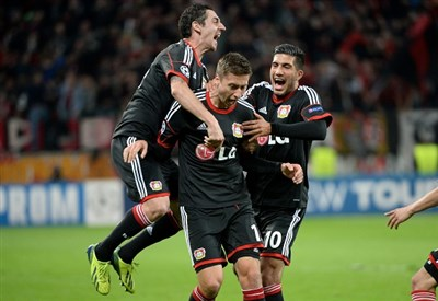 Jens Hegeler ha appena segnato contro la Real Sociedad (Infophoto)