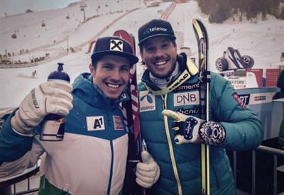 Marcel Hirscher, 26 anni, e Kjetil Jansrud, 29 (dall'account facebook.com/hirschermarcel)