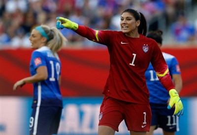 Hope Solo, 34 anni (Infophoto)