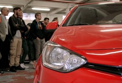 Hyundai i20, premio all'Itis Feltrinelli di Milano