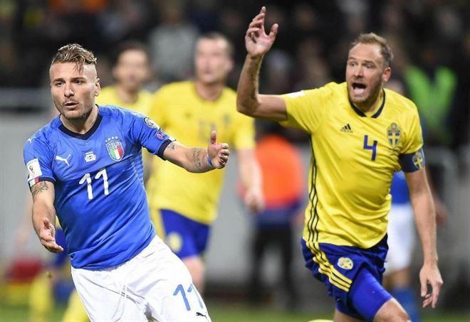 Video Italia Svezia (Foto LaPresse)