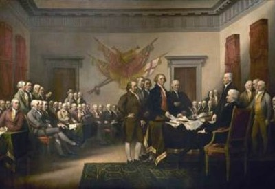 The Committee presenting the Declaration to Congress, by John Trumbull