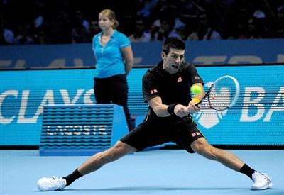 Novak Djokovic: nella notte ha battuto Fabio Fognini (Infophoto)