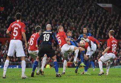 Un'immagine di Inter-Manchester United, Champions League 2008-2009 (Infophoto)
