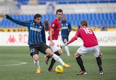 Questa sera il bi match della seconda giornata di serie A è Inter-Roma (Infophoto)
