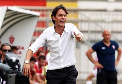 Filippo Inzaghi, prima stagione da allenatore del Milan (Infophoto)