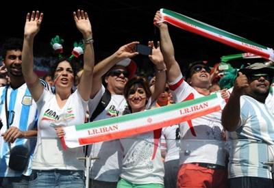 I tifosi dell'Iran (Infophoto)
