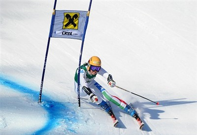 Irene Curtoni in azione (Infophoto)