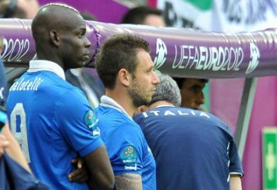 Mario Balotelli e Antonio Cassano (Infophoto)