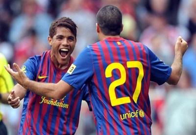 Jonathan Dos Santos, centrocampista del Barcellona (Infophoto)