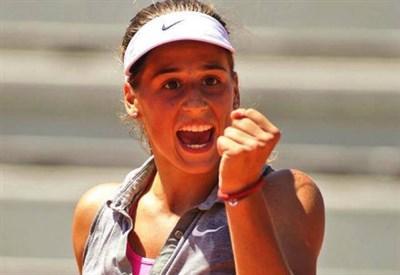Ivana Jorovic, 17 anni, qui al Roland Garros