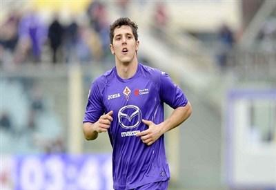 Stevan Jovetic, attaccante della Fiorentina (Foto Infophoto)